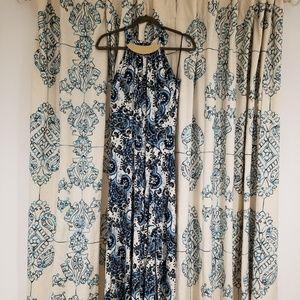 Michael Kors Floral & Paisley Print Maxi Dress